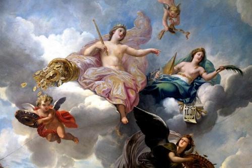نقاشی فرشته روی سقف