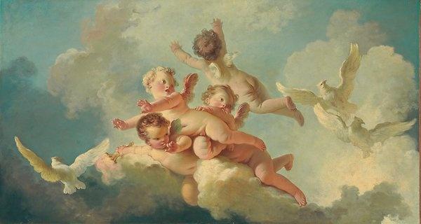 طراحی و نقاشی فرشته روی سقف و دیوار