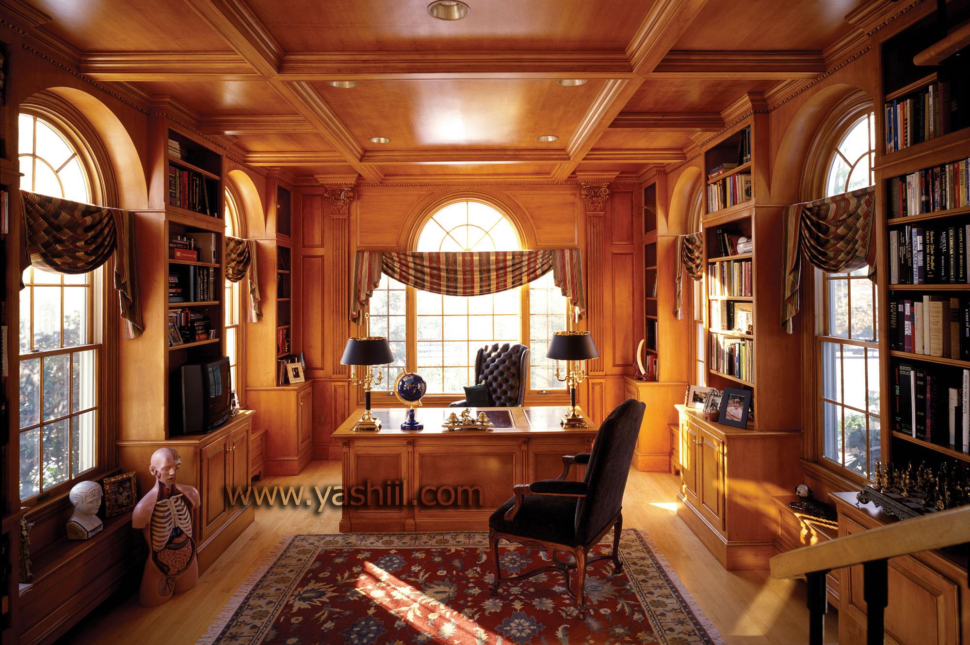 طراحی اتاق کار به سبک کلاسیک