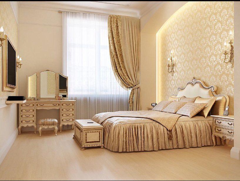 طراحی دکوراسیون داخلی اتاق خواب به سبک کلاسیک