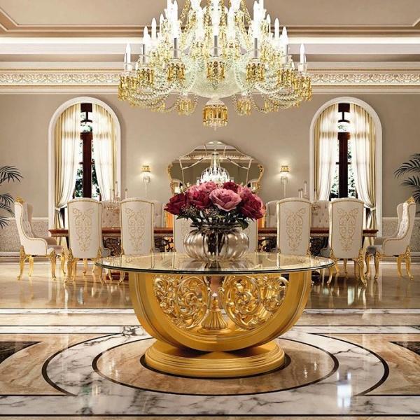 طراحی و چیدمان داخلی با مبلمان کلاسیک و سلطنتی