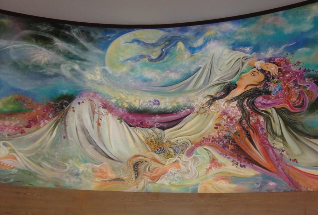 نقاشی مینیاتور روی سقف
