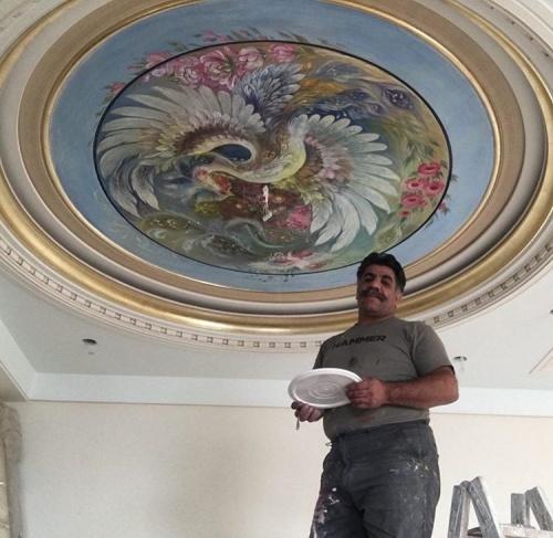 طراحی و نقاشی مینیاتور روی سقف و دیوار