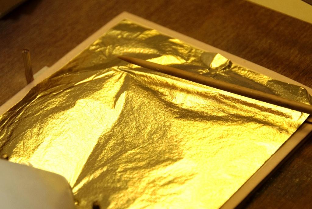 آموزش اجرای ورق طلا