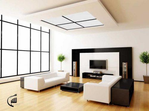 طراحی سالن پذیرایی مدرن