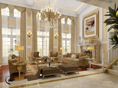 طراحی سالن پذیرایی کلاسیک