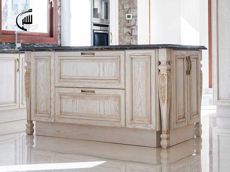 کابینت تمام چوب - طراحی ، ساخت و نصب کابینت های تمام چوب - قیمت کابینت تمام چوب
