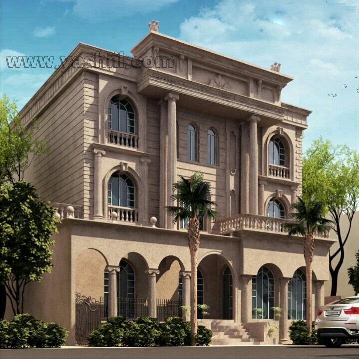 طراحی نمای ساختمان - نمای رومی