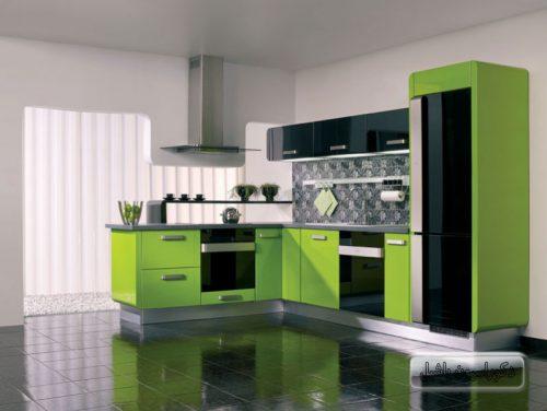 کابینت های گلاس سبز